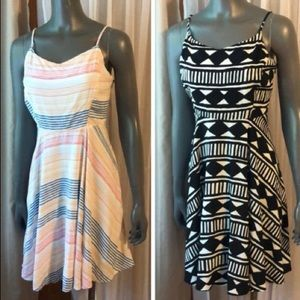 Old Navy Fit & Flare dresses two size Large